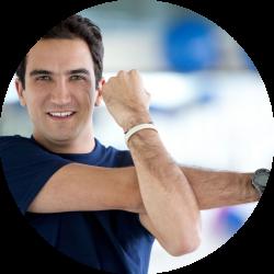Photo d'un homme faisant de l'exercice